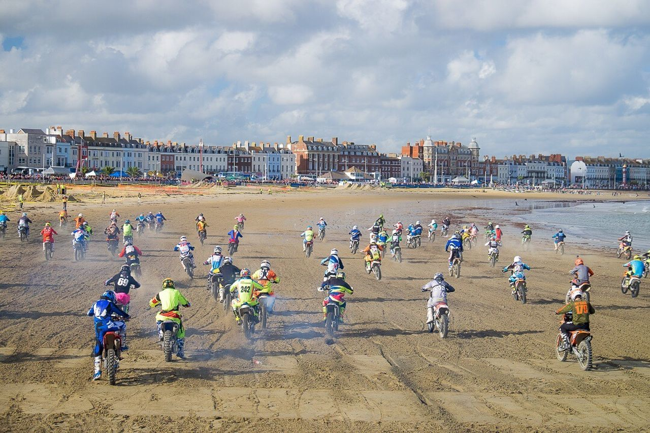 And they're off.... Weymouth Beach Weymouth Dorset Weymouth For Life Motorcross  Motorcross Fun Motorcross Meet Beach Sea Shore Dorset