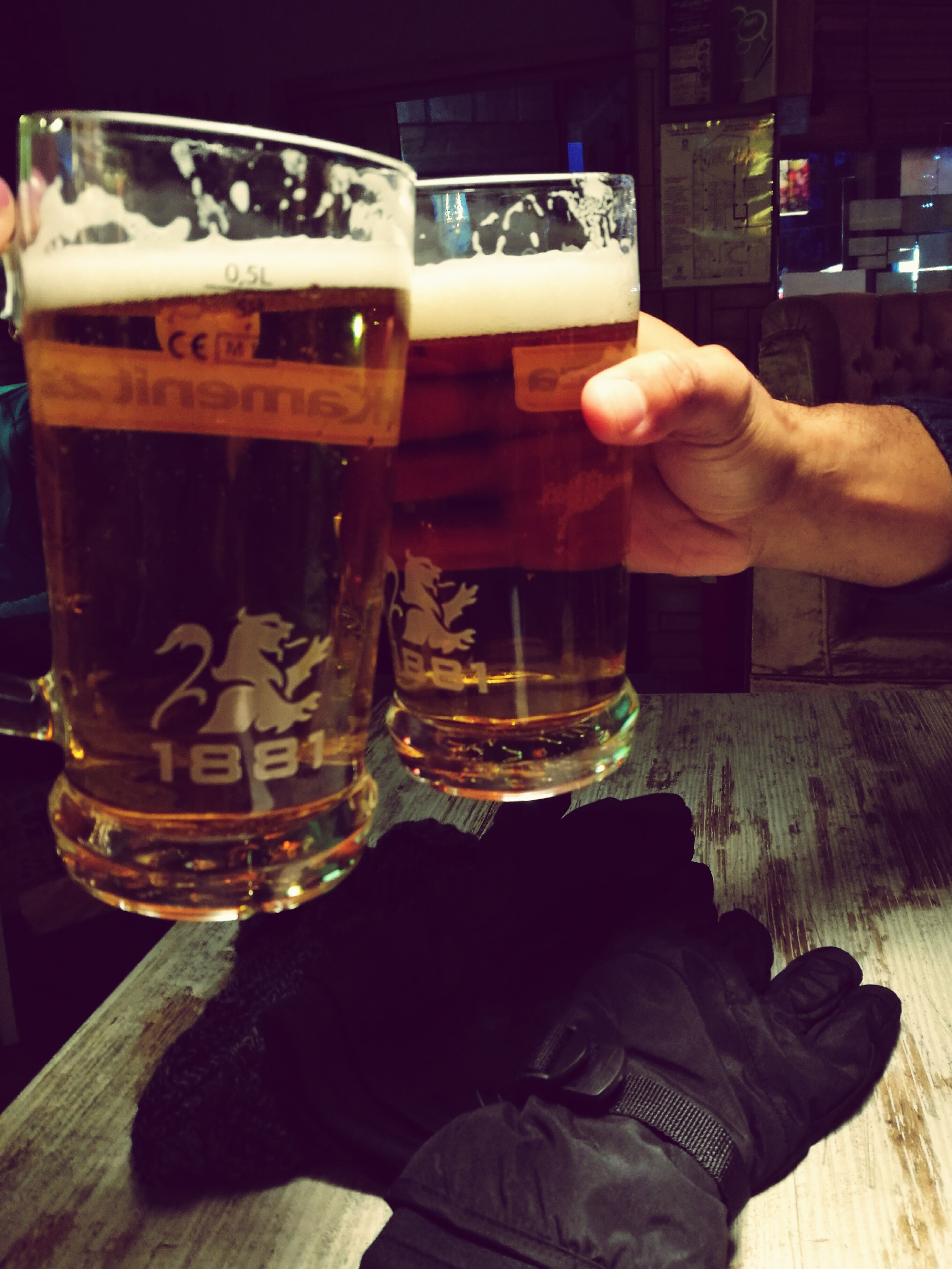 Goodvibes Food And Drink Beer Glass Drink Delicious ♡ Beertime Drinking Glass Good Day Wintertime