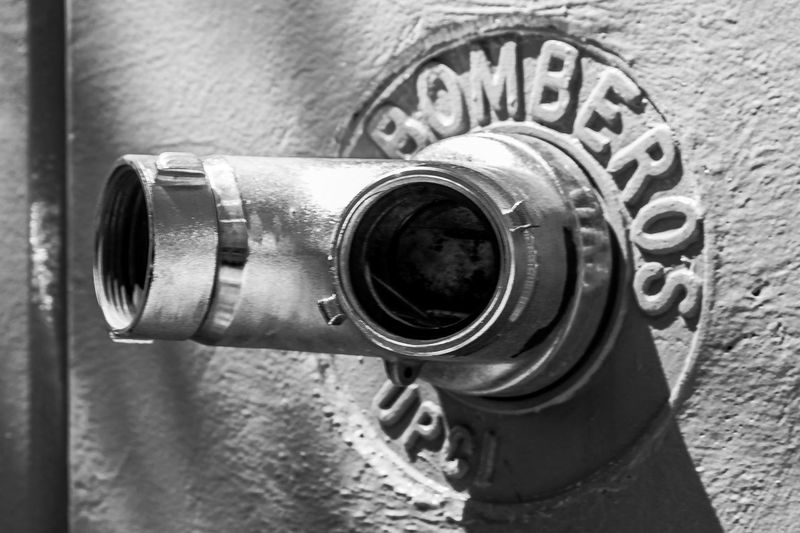 Waterintake Firemans Mexico City Outdoors Black&white Hose Blackandwhite Photography Black And White Bomberos Fire Fireman Hidrant Pipe Water