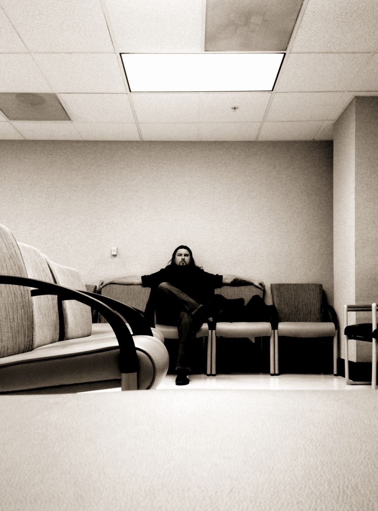 the waiting room. Blackandwhite WeAreJuxt.com AMPt_community