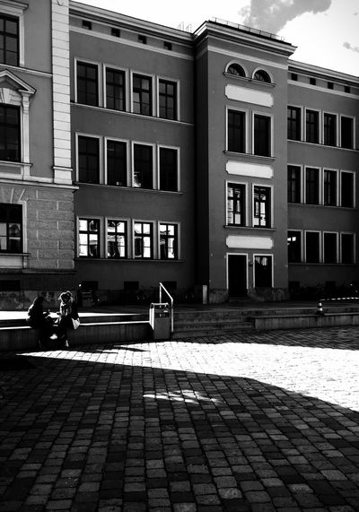 City Sharp Light Light And Shadow Streetphotography Blackandwhite Augsburg City Life
