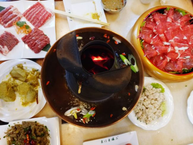 Beijing, China August 2016 Food Yammy  Instant-boiled Mutton