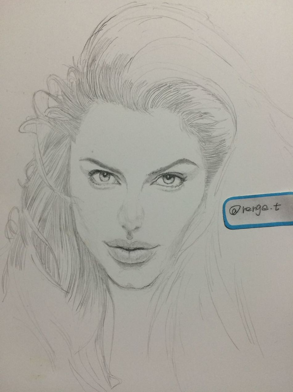 Drawing ArtWork Hello World Art, Drawing, Creativity MyDrawing Angelina Jolie アンジェリーナジョリー アンジー