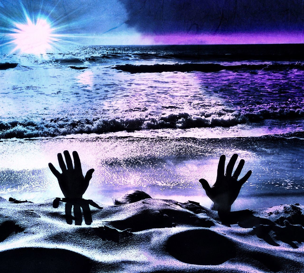Blue Cold Cold Temperature Concept Concepts Conceptual Danger Debt Distressed Drown Drowning Drowning In Debt Hands Help Help Me Man Ocean Person Purple Save Me Sea Surreal The Magic Mission Unrecognizable Person Water
