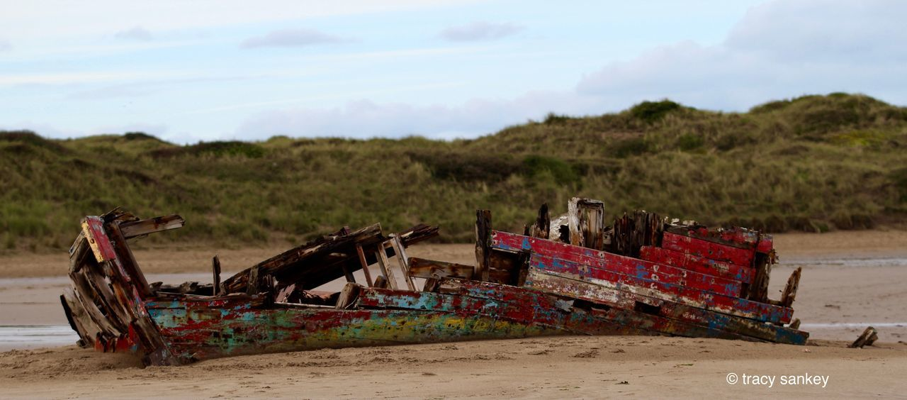 Beach Photography Boat Boat Ruins Colours Dunes Old Boat Washed Up On Beach Wrecked