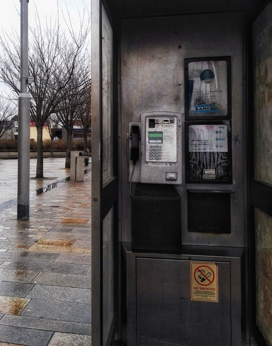 Communication Technology Built Structure Connection Pay Phone No People Close-up Old-fashioned Out Of Date Old Technology