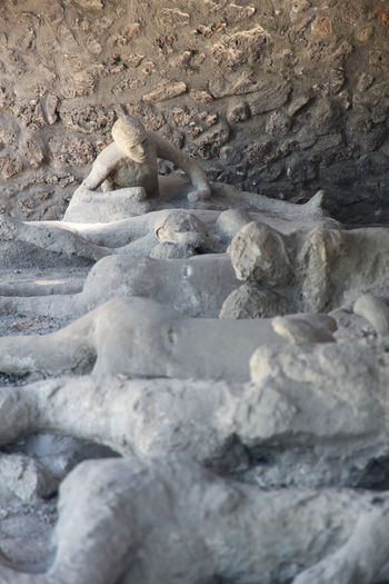 ORTO DEI FUGGIASCHI - POMPEI. Remains of people fossil after explosion of the volcano Vesuvio Ancient City Ancient Civilization Ancient Culture Ancient People Group Ancient Ruins People
