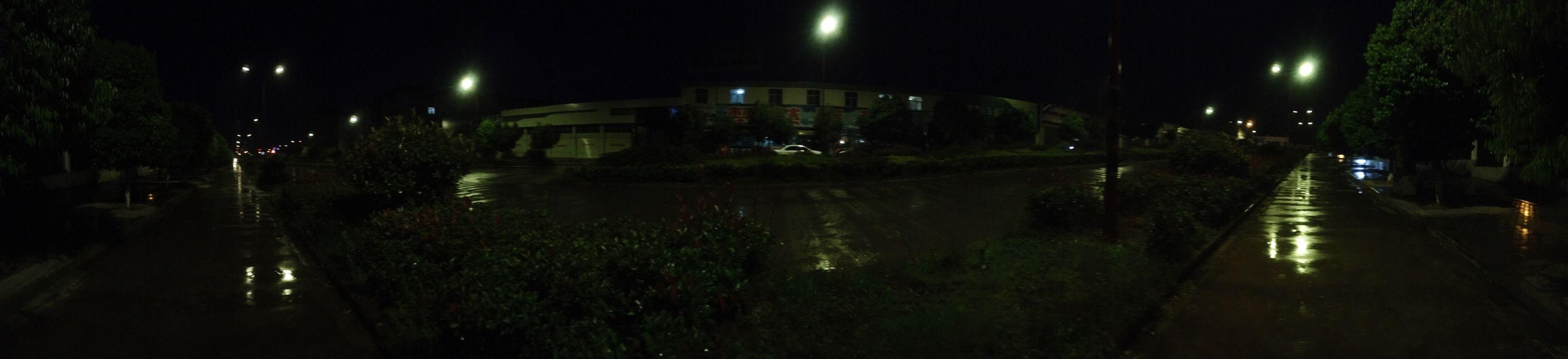 On a raining evening .