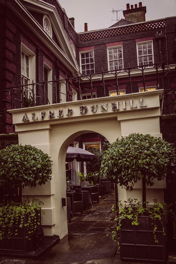 Alfred Dunhill's Bourdon House 35mm Camera Alfred Dunhill Bourdon House London Mayfair, London Postcode Postcards Rainy Days Sony RX1 Time-0 Polaroid Cold - - - VSCO Arch Architecture Balcony Building Exterior Built Structure City Day Growth No People Outdoors Plant Potted Plant Tree