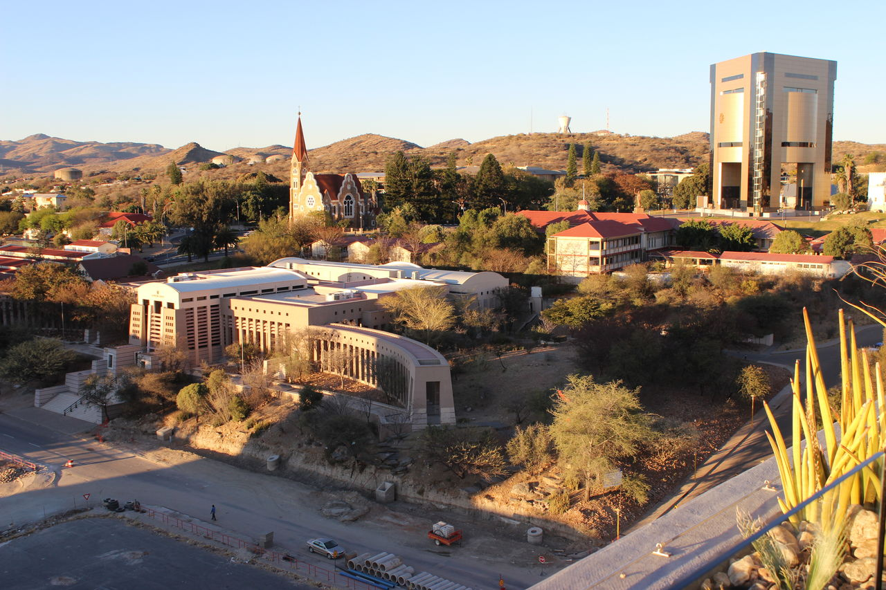 Christuskirche City From Above Museums Supreme Court Windhoek Windhoek Namibia Windhoek, Namibia WindhoekCity