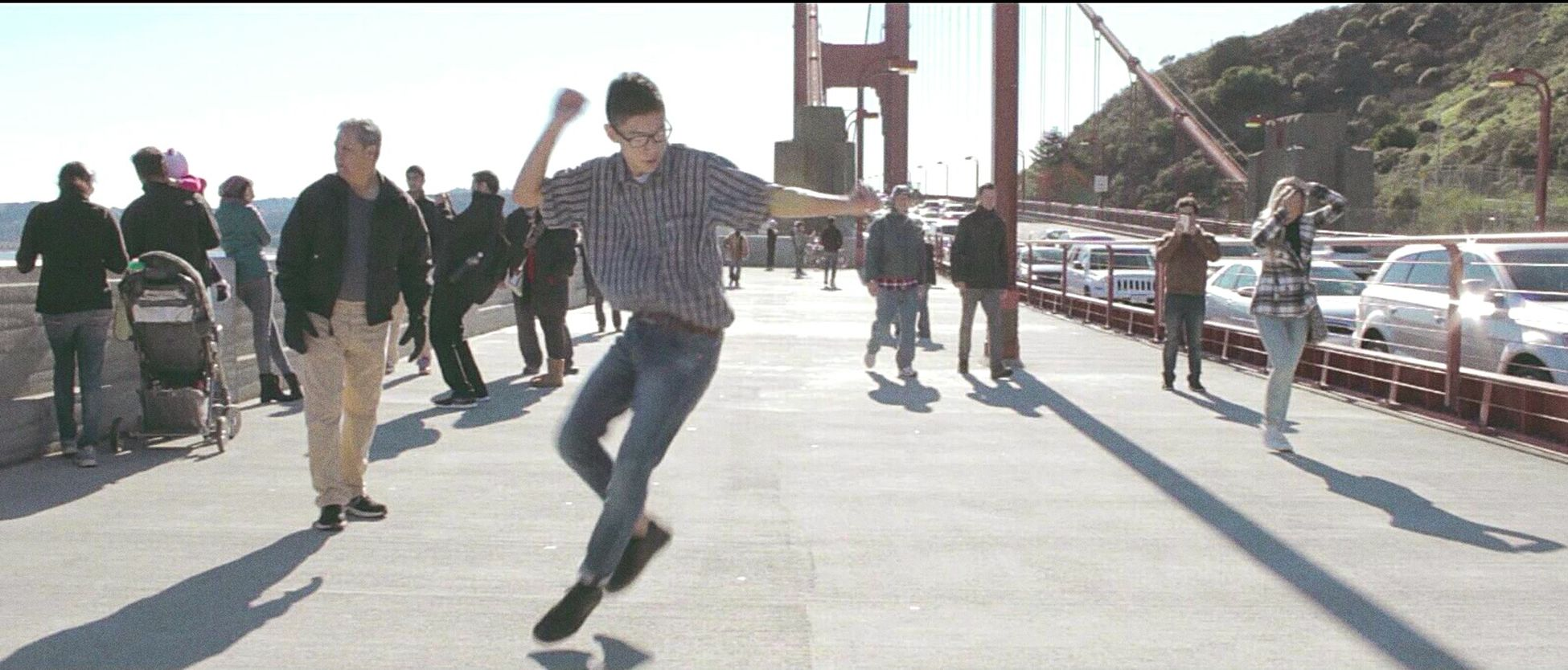 Tearin' it up last Christmas @ san francisco for another music video. Sanfrancisco Musicvideo Public GoldenGateBridge