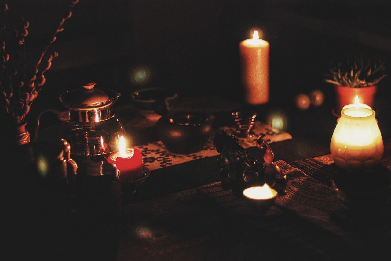 Candle Flame Illuminated Burning Celebration Night Archival Christmas Oil Lamp Indoors  People Nightlife Close-up Togetherness чайнаяцеремония Tea - Hot Drink Самара Teapot Tea Cup Чай Samara Tea Light EyeEmNewHere Welcome To Black