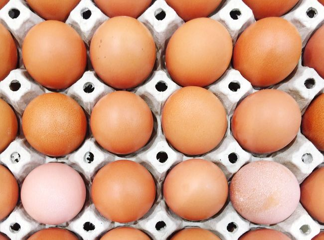 Egg Egg Carton In A Row Order Large Group Of Objects Food Food And Drink Abundance Arrangement Brown Healthy Eating Indoors  No People Full Frame Easter Directly Above Fragility Backgrounds Freshness Close-up