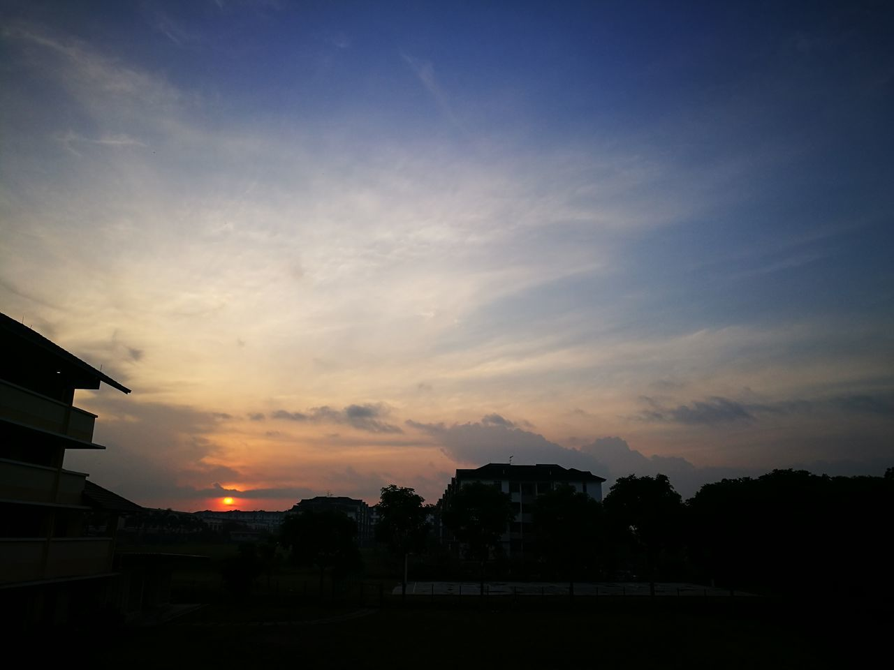 Morning Sunset Dramatic Sky Silhouette Sky No People Architecture Nature Outdoors Beauty In Nature Malaysia Johor Bahru Sky