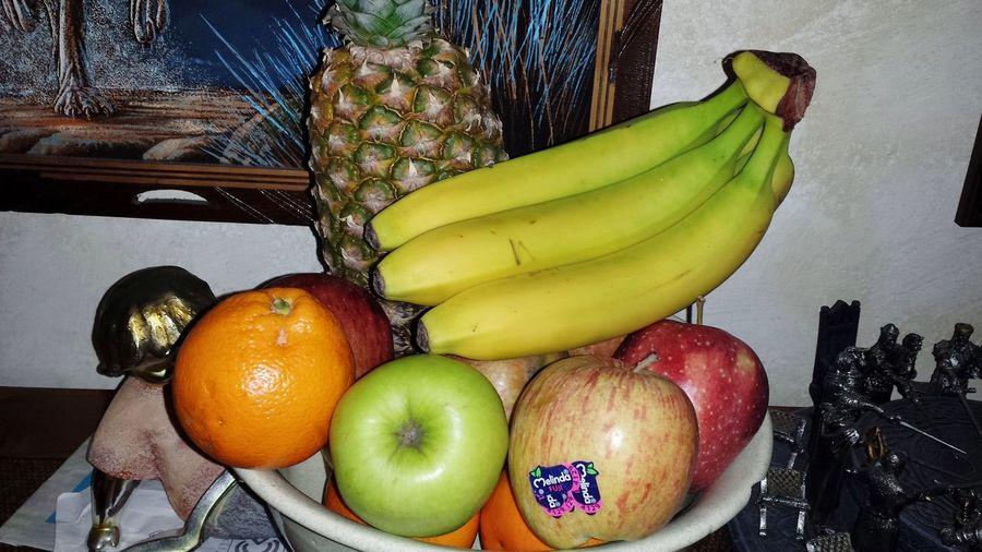 Food And Drink Food Healthy Eating Fruit Freshness Indoors  No People Day Fruits Fruttafresca Frutta Fresca Fruttaaa:)) Frutta Esotica Frutta Buona Fruttiwai🍉🍒🍓🍇🍏🌰🍍🍎🍡🌺🌺🌺🌸🌸🌸🌸🌺🌺 Fruttadistagione Mela Melinda Melamelinda Banana Bananas Banan Banane Ananas Ananas 👌