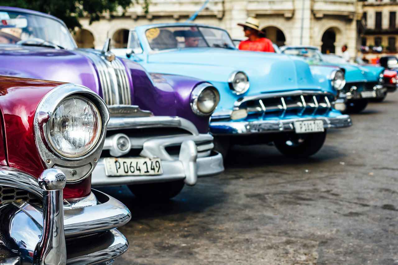 Car Classic Car Close-up Collector's Car Cuba Collection Cuban Cars Front View Land Vehicle Luxury Mode Of Transport Old Cars Old Havana Old-fashioned Outdoors Retro Styled Transportation