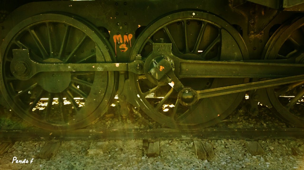 wheel, old-fashioned, transportation, train - vehicle, mode of transport, rail transportation, steam train, history, locomotive, no people, public transportation, outdoors, day, close-up