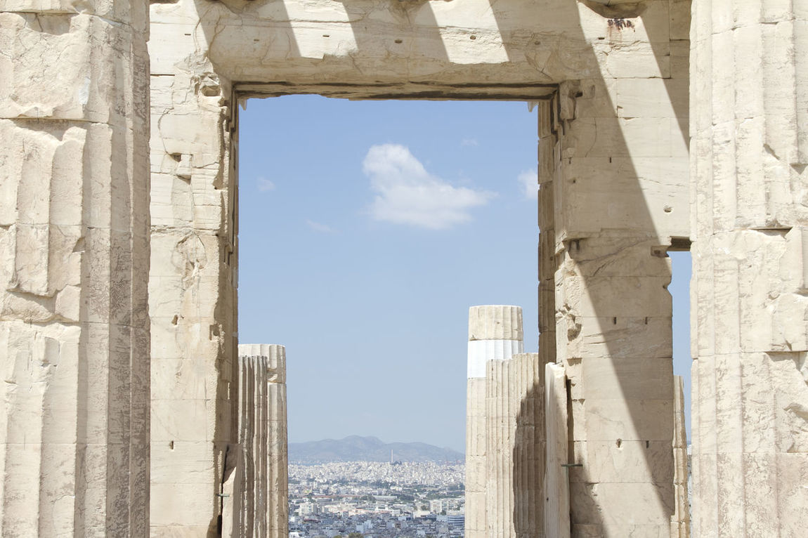 Athens Athens, Greece Greece Columns Columns And Pillars View View From The Window... Views Ancent Architecture Historical Monuments Historical Building Historical Architecture Miles Away