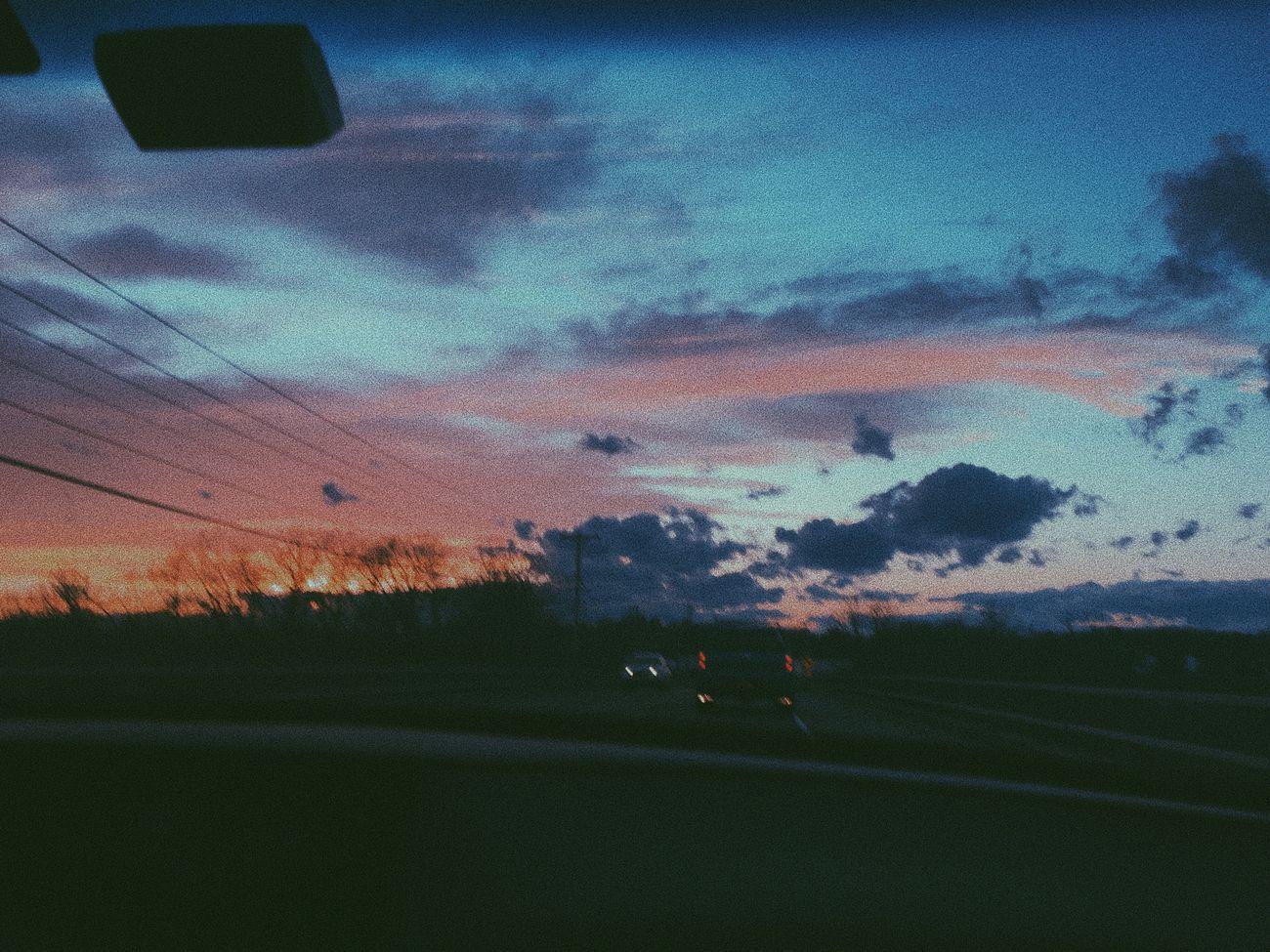 Sunset CarRides Cloud - Sky Tranquility Scenics Sky Dusk First Eyeem Photo
