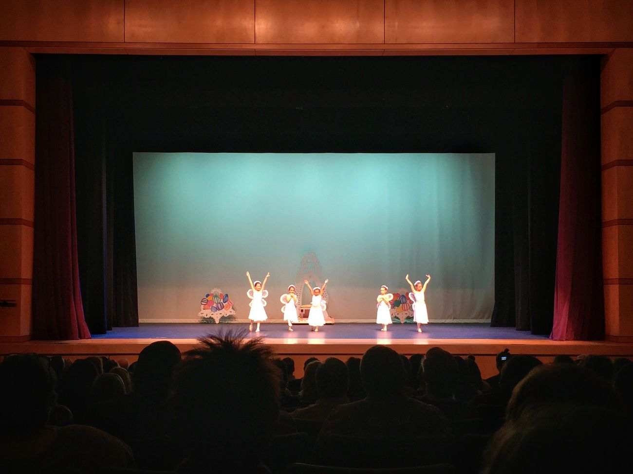 Arts Culture And Entertainment Indoors  Projection Screen Illuminated Stage - Performance Space Audience Dance Dancing Performance Kids Being Kids Kid Kids Ballett Ballerina Ballet Dancer