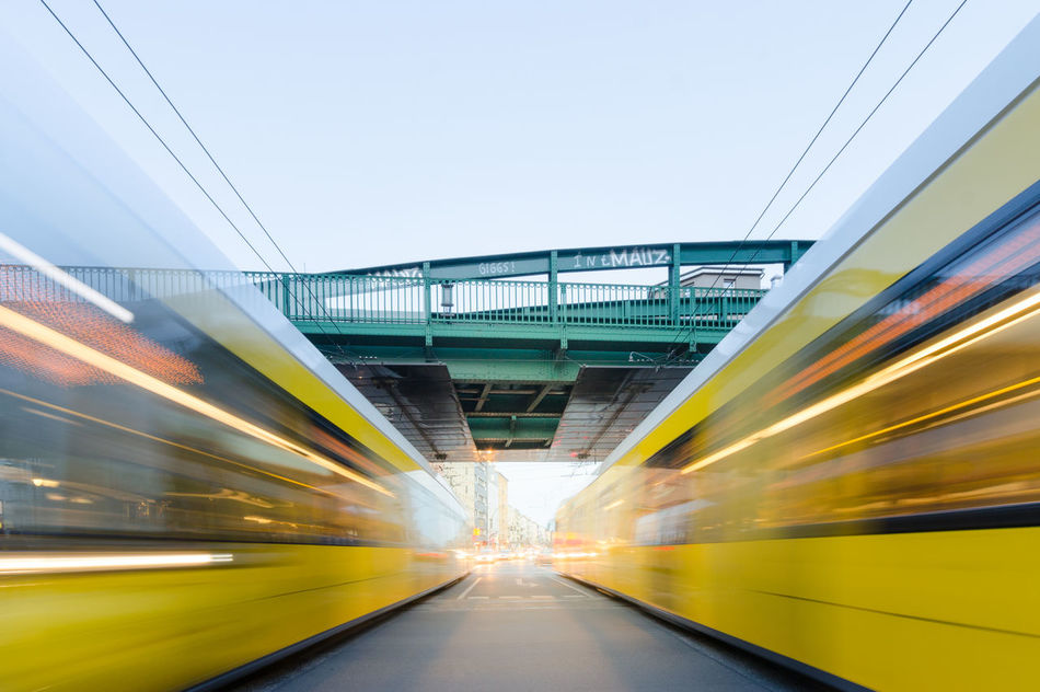Beautiful stock photos of transport, Berlin, Blurred Motion, Bridge - Man Made Structure, Day