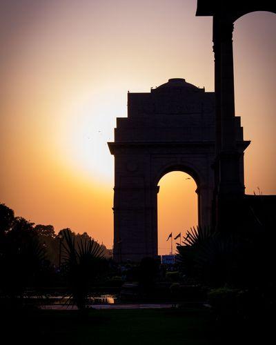 Monument India North India Delhi DelhiGram India Gate Sunset Perfect Best