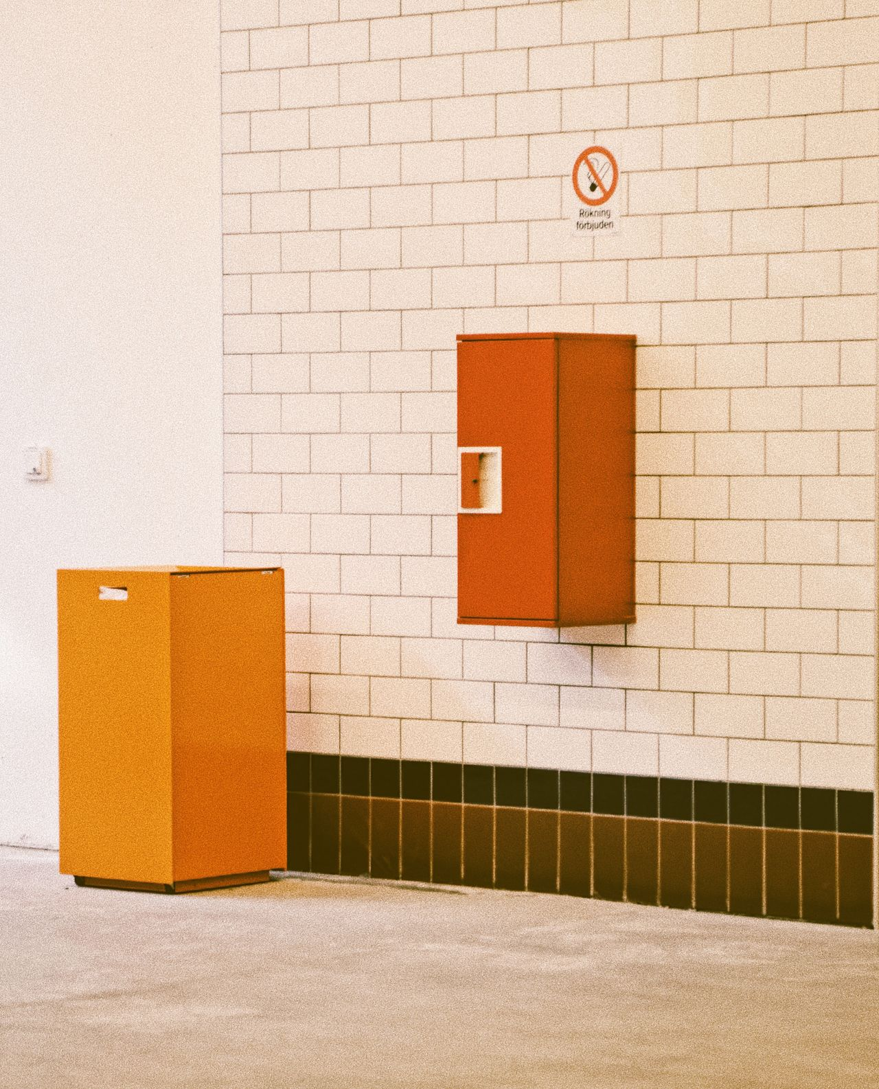 Built Structure Red No People Architecture Indoors  Day Wall Detail Still Life Simplicity Abstract Rectangles Red Orange Color White White Color Walls Squares Public Places Architecture Background Wall Art Minimalism Minimalistic