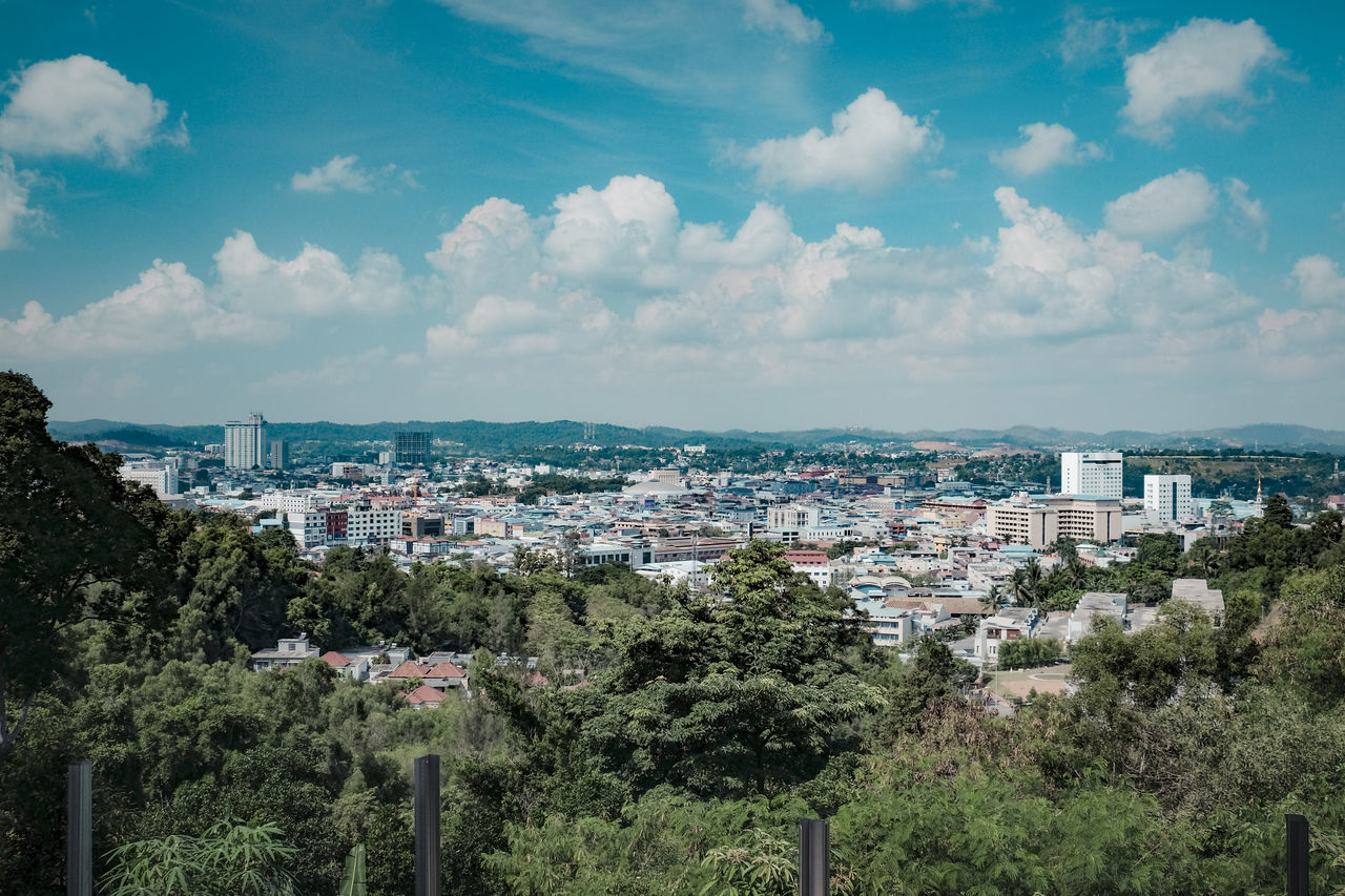Batam Island Batam Island, Indonesia. Ocean View Architecture Bluish Green Building Exterior Buildings Built Structure City View From Above Day Developing Country No People Outdoors Singapore Straits Sky