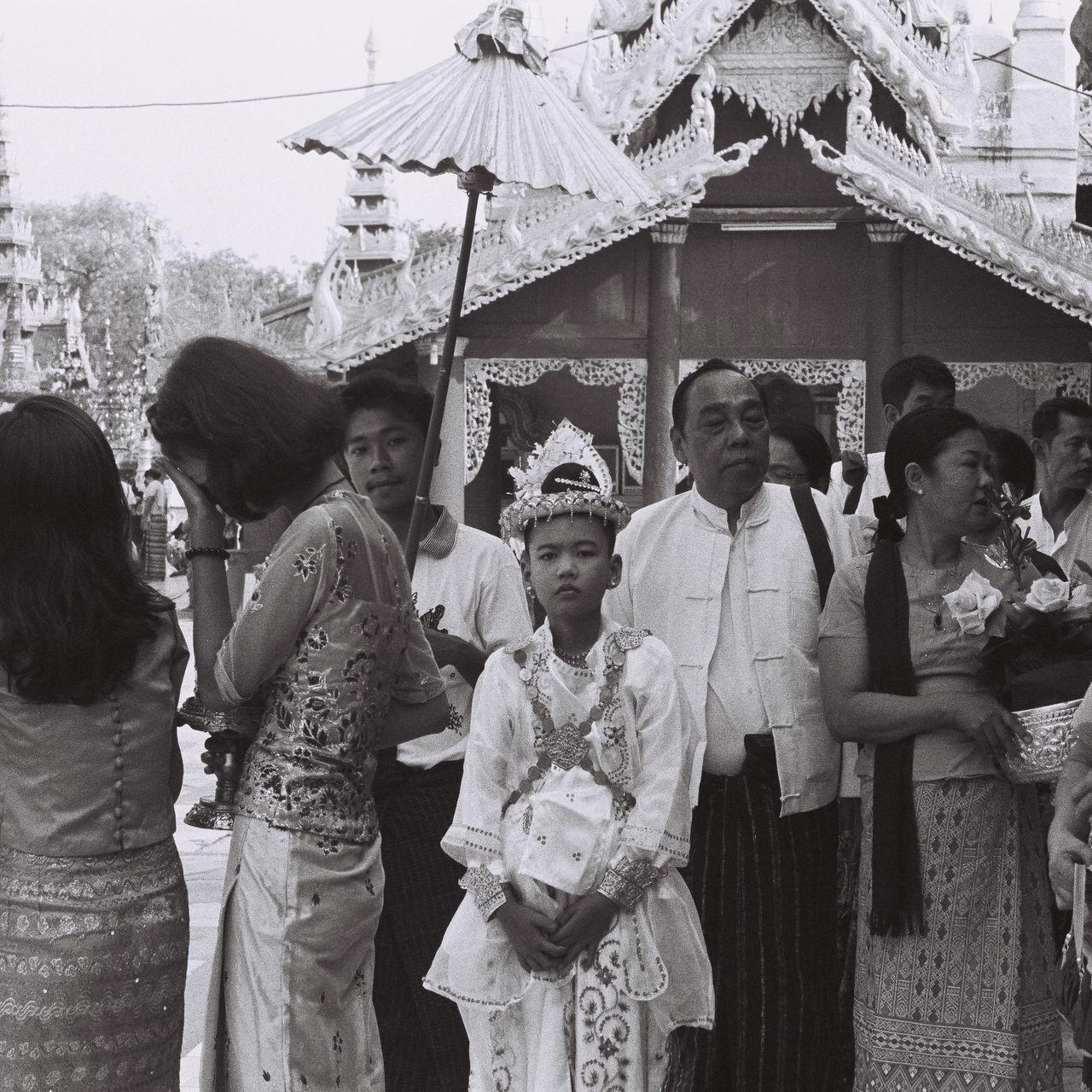 Ordination ceremonyThe Photojournalist - 2017 EyeEm Awards Real PeopleIusefilm Ishootfilm 35mm Ilfordpan400 Myanmar Arts Culture And Entertainment Buddha Buddhism Spirituality The Street Photographer - 2017 EyeEm Awards