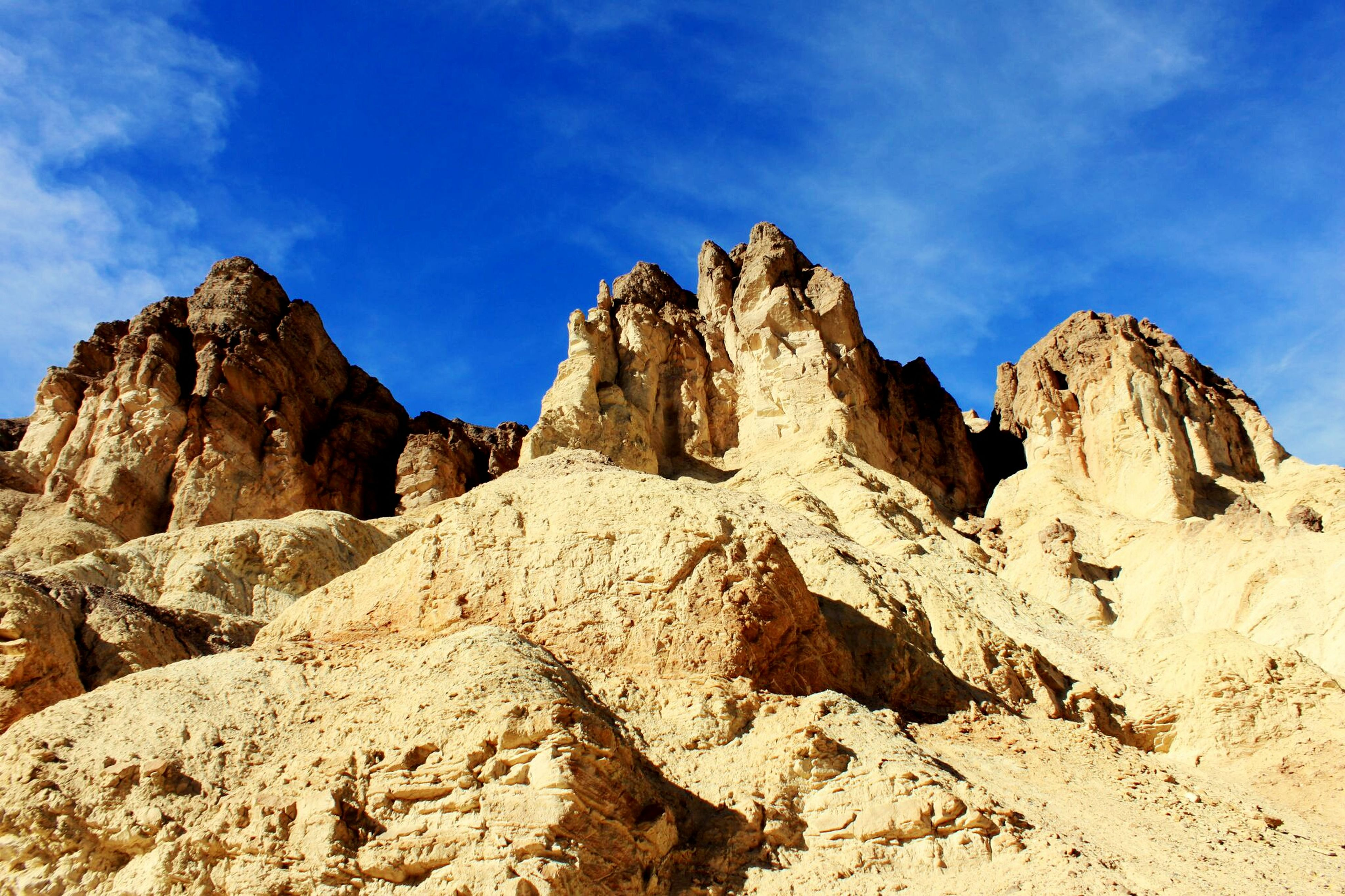 Peaks along the Golden Canyon trail in Death Valley