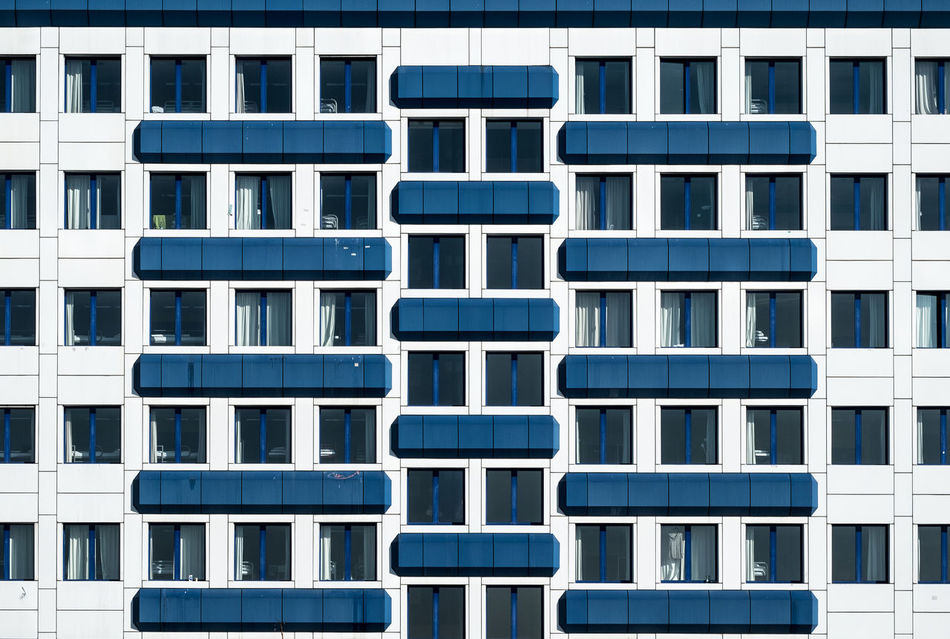 Blueandwhitefacade Architectural Detail Architecture Architecture_collection Architecturelovers Backgrounds Berlin Berlin Photography Building Exterior Built Structure Facade Building Façade Full Frame No People Outdoors Repetition Symmetrical Symmetry Urban Geometry Urbanphotography