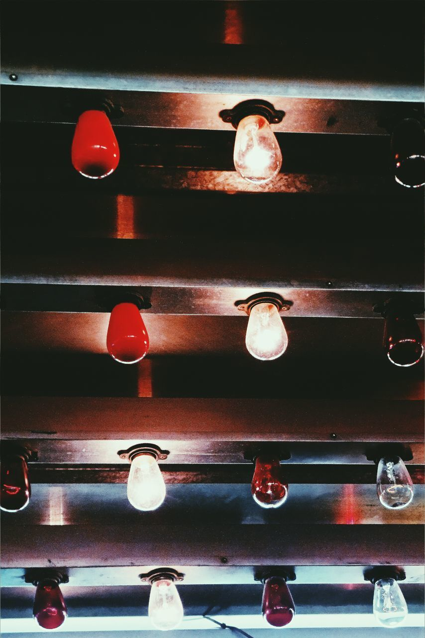 lighting equipment, red, no people, illuminated, animal themes, night, outdoors, nature, close-up