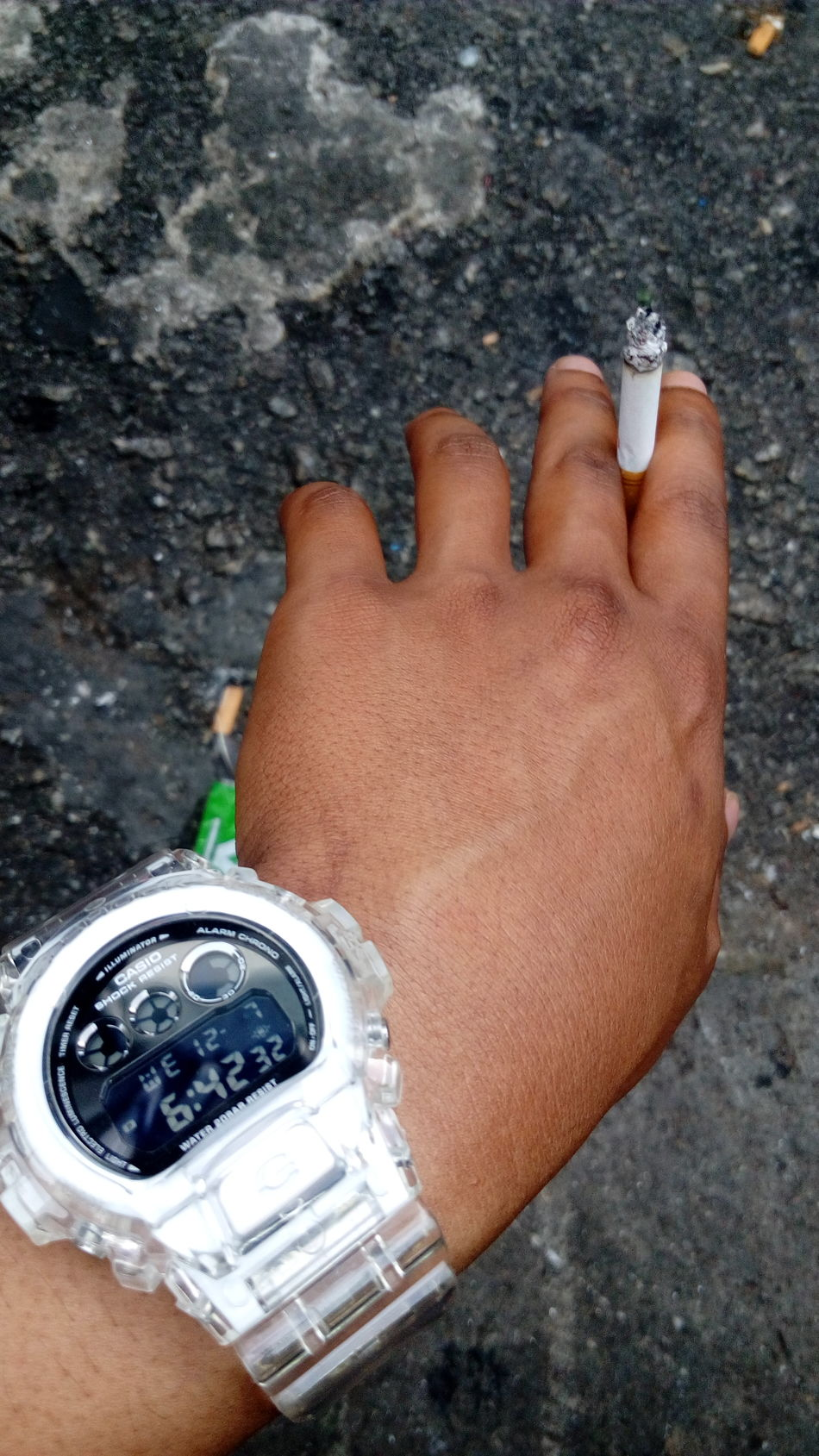 smoking kills..kills stress.. Ciggar Ciggarette For A Thousand Problems Gshock_Lover Casio G-shock Dw6900nb7 Eminem Icejelly