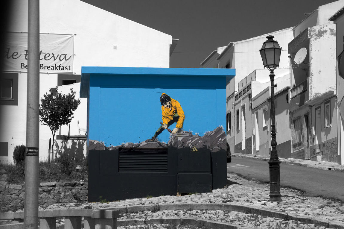 Blue D3200 No People Photoshop Portugal Selective Color Taken From Moving Vehicle Finding New Frontiers