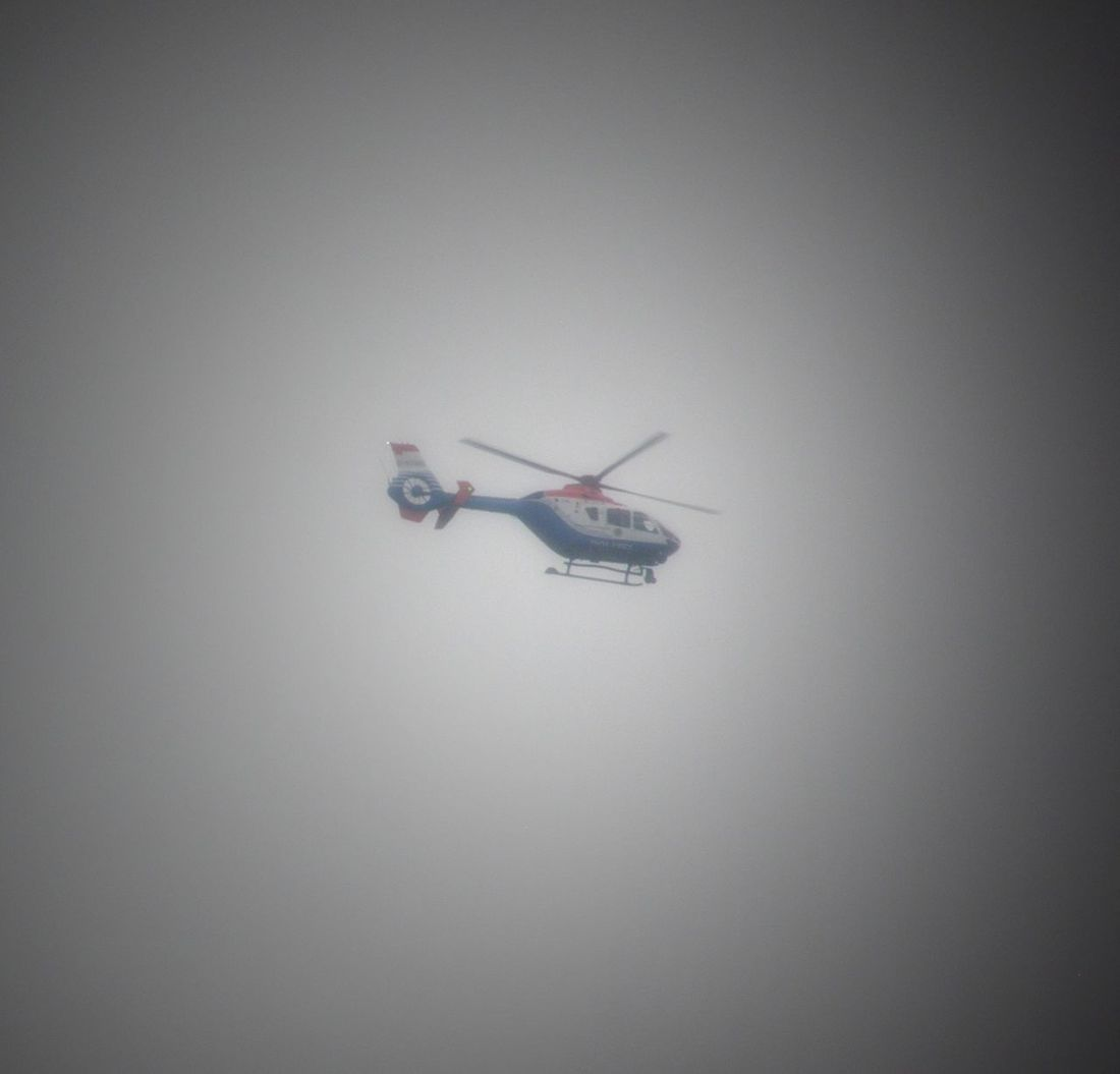 Cloudy Day Foggy Helycopter Flying Outdoor Photography