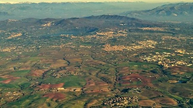 Flight Castelliromani  Italy Airplane Montecavo Castelgandolfo Marino Airview Autumn Aerophoto Great Amazing