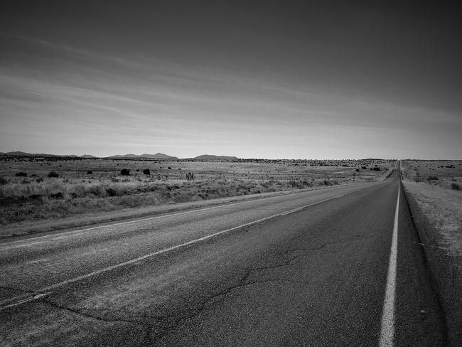 """""""My Life Journey"""" The open road my dream, yet a prisoner of my life circumstances. New Mexico Photography New Mexico Metaphor Asphalt Open Road Blackandwhite Photography Blackandwhite Black And White Road The Way Forward Landscape Transportation Nature Outdoors No People"""