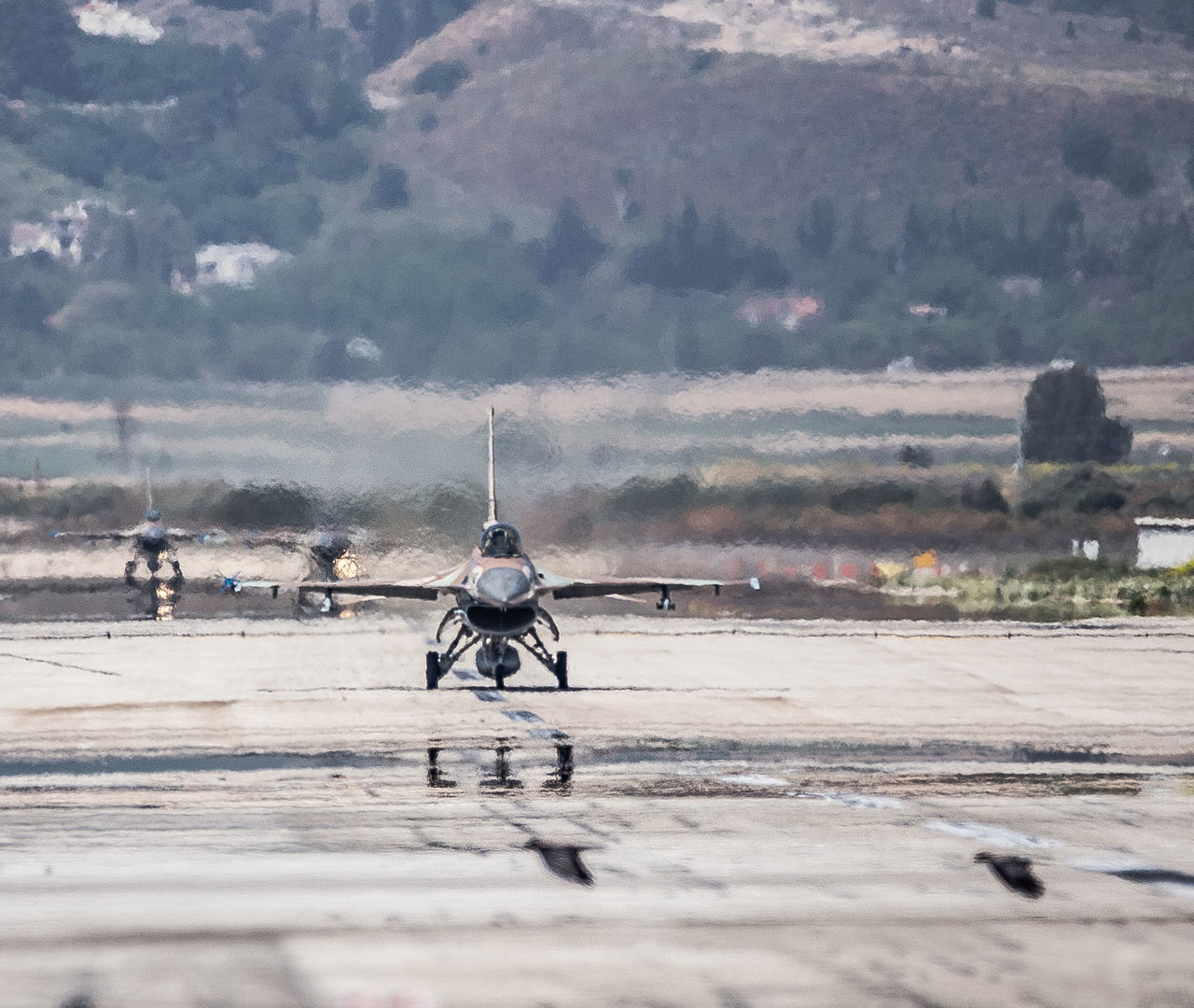 Aviation Blue Sky F-16 Fighting Falcon Flight General Dynamics IAF Israeli Air Force Mode Of Transport Runway Taxiing Transportation