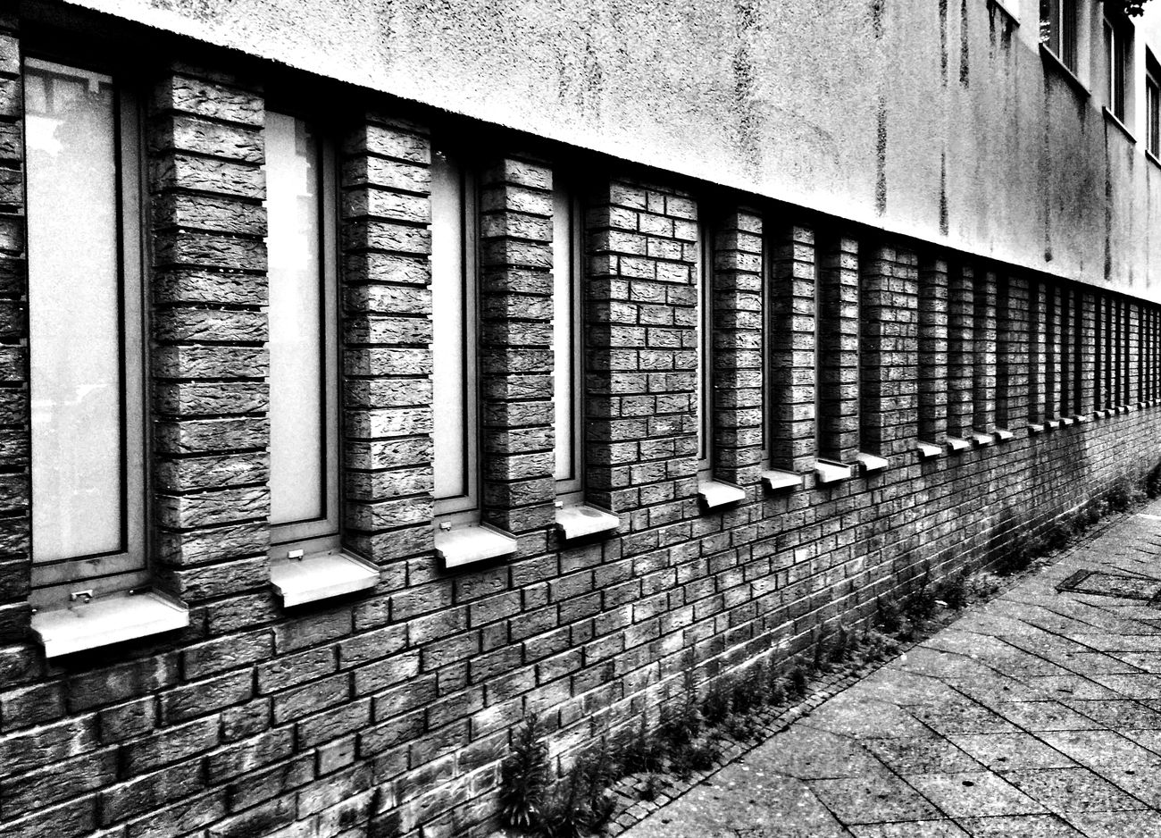 Blackandwhite Repetitive House Facade