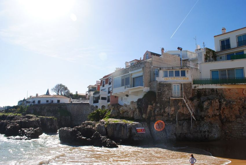Building Exterior Architecture Built Structure Sky Outdoors Day City No People Cascais Water February Lisbon Portugal Lisboa Portugal Architecture Clear Sky Sun Sea Beach Tranquility Sand Shore Nature Sunspot