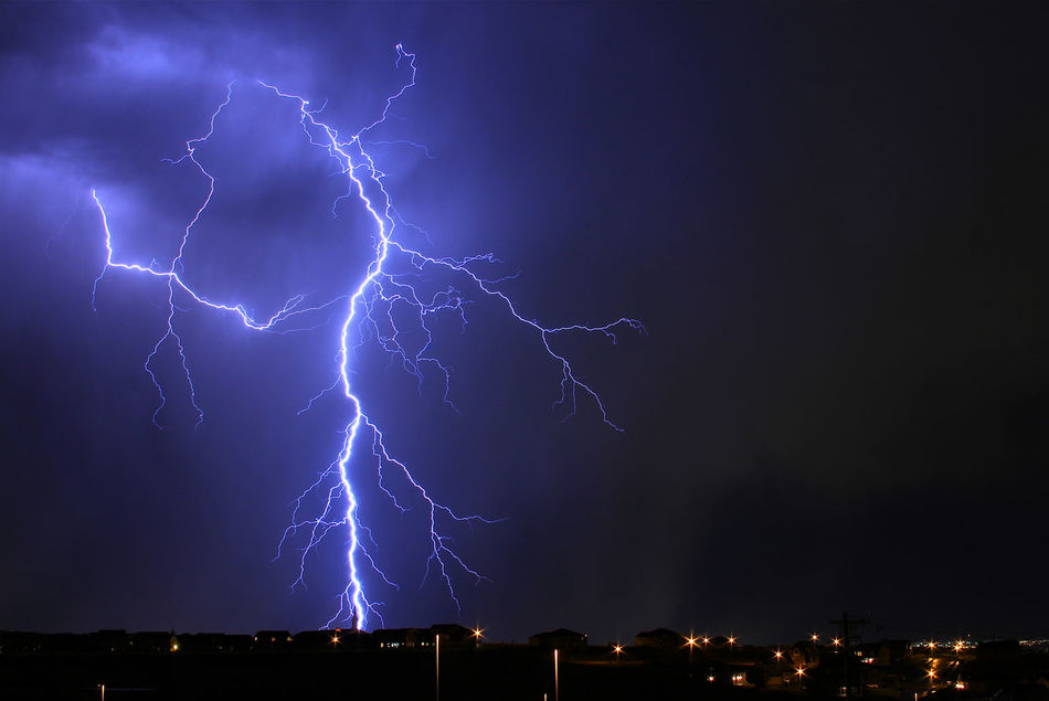 Beautiful stock photos of lightning, Beauty In Nature, Danger, Dramatic Sky, Environmental Damage