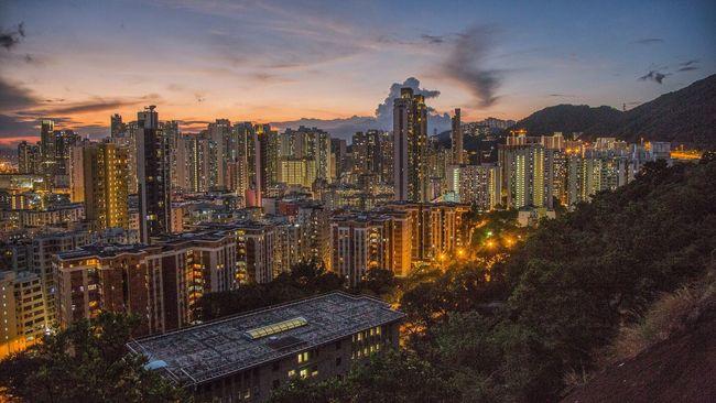 Garden hill. Cityscape Skyscraper HongKong Shum Shui Po Mountain Hiking Night Streetphotography Light
