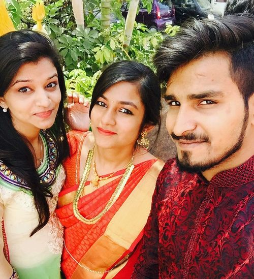 Besties For Lyf! Wedding Scenes happiness smiling looking at camera togetherness love to take photos ❤ Funny Moments toothy smile portrait adults only young adult adult people young women cheerful cultures day sari outdoors First Eyeem Photo Mobile Conversations EyeEmNewHere Flying High