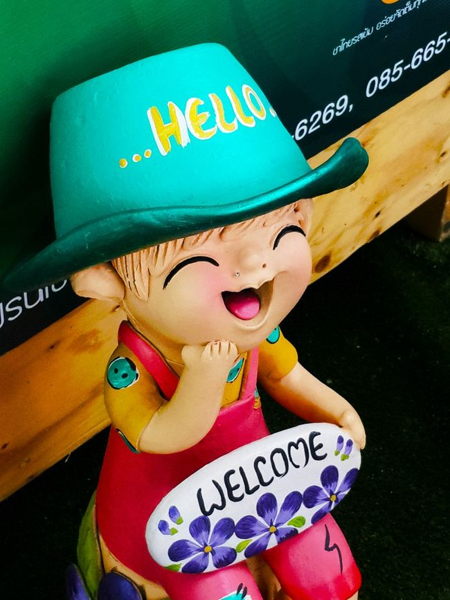 Doll Clay Doll Smile Welcome
