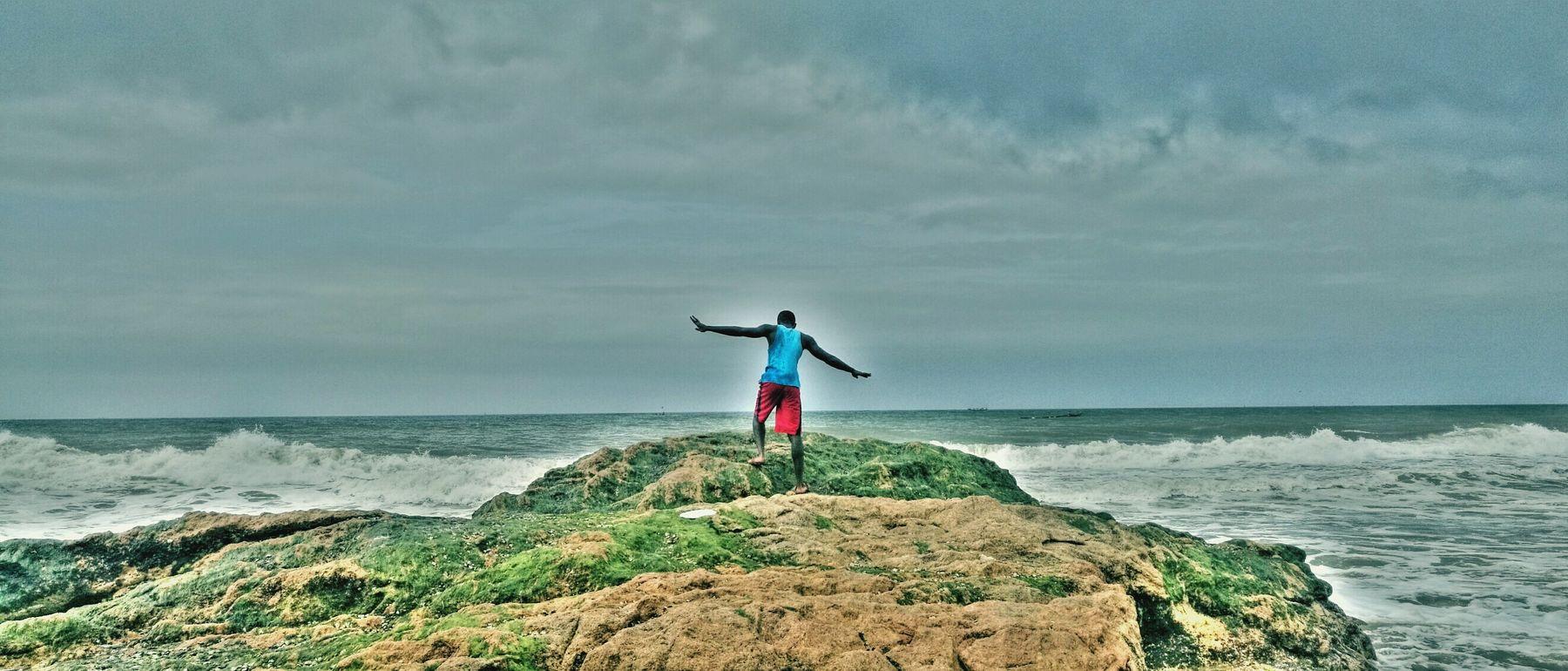 The walk of no return Sea Full Length Water Horizon Over Water Vacations Tourist First Eyeem Photo