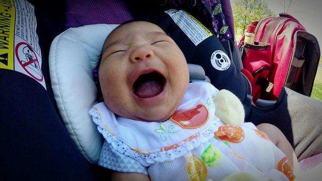 Happyascanbe Babylife Dayinthepark Smiles Noteethsmile Laughter Laughter Feeds The Soul Babygirl Nocare