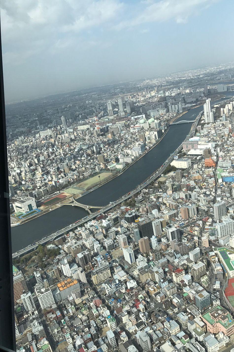 High Angle View Tokyo Sky Tree 450Floor Amazingview 🗼 Eyeemphoto JapanLife Shotfromabove Flying High