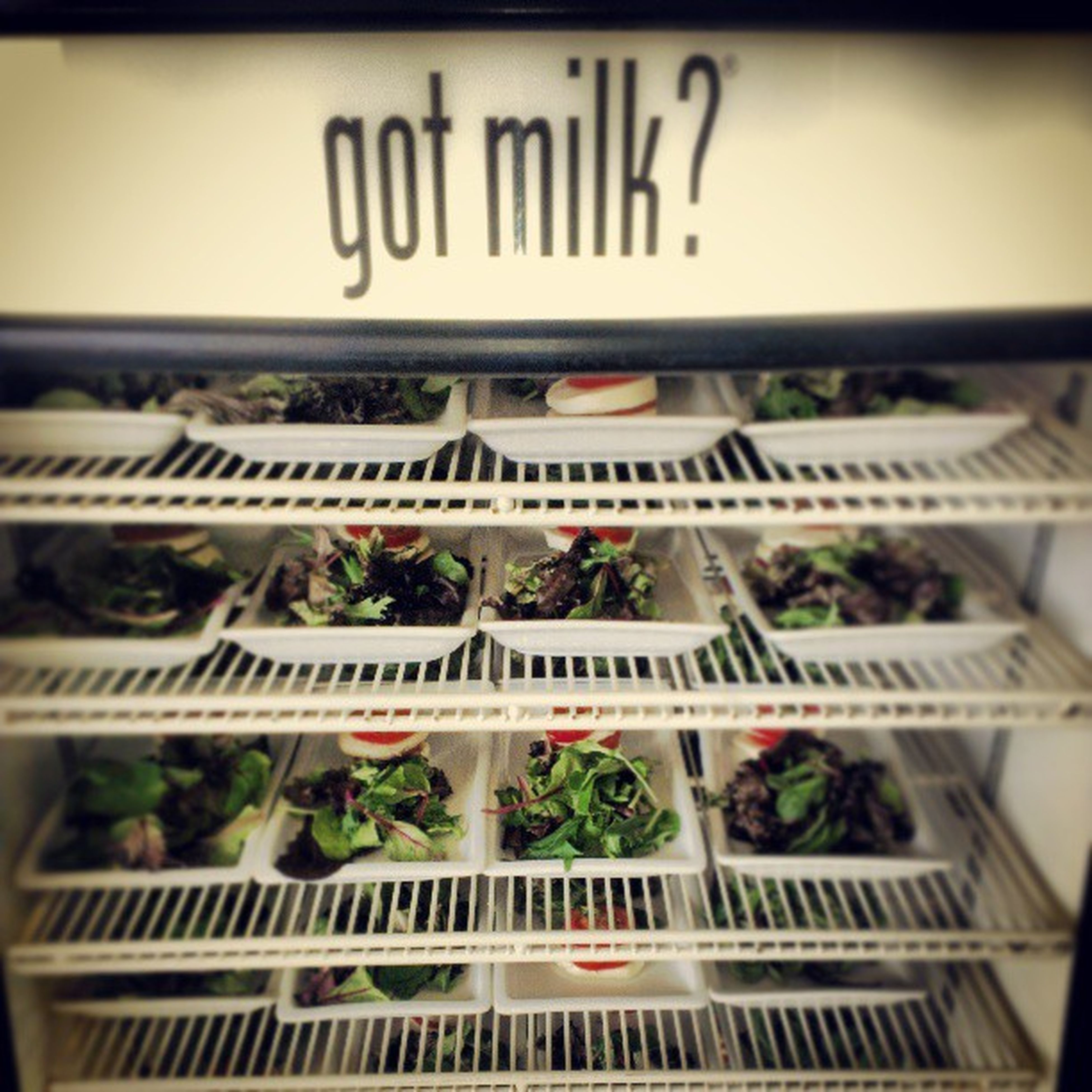 Milk = bad. Greens = good Purpleparty