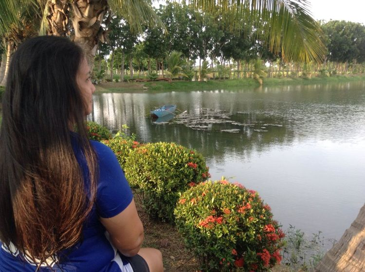 Eyeemphilippinesmobilephoto Eyeem Philippines Enjoying Life Eyeem Philippines Album The Week On Eyem One Person Real People Nature Flower Beauty In Nature Water Plant Day Rear View Women Lake Outdoors Tree Growth Lifestyles Young Adult Adult People