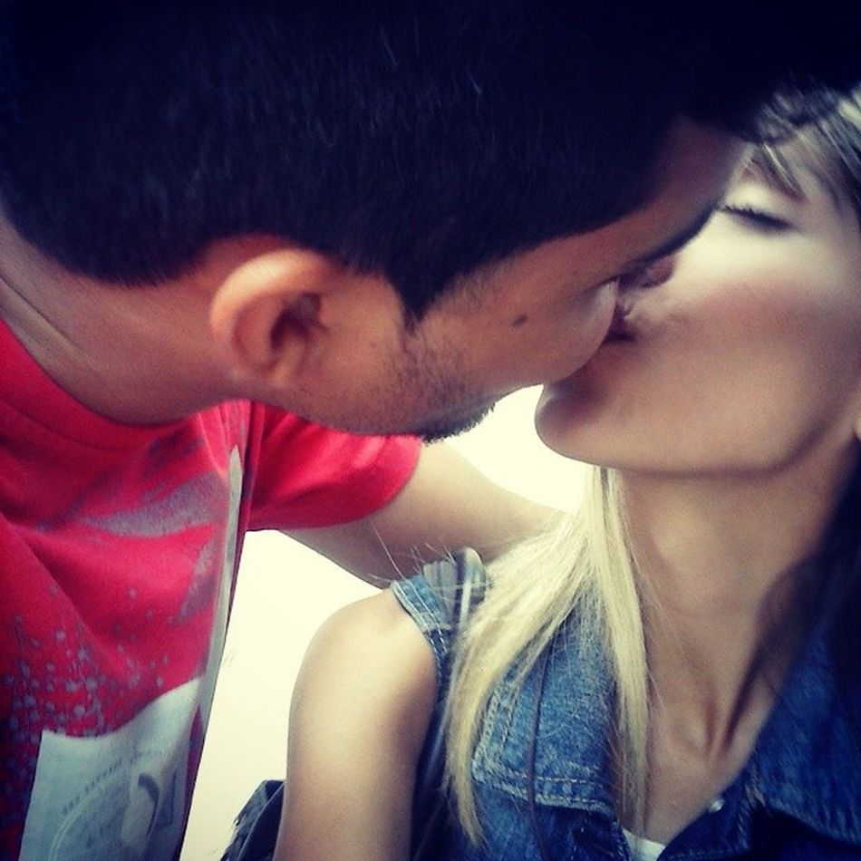 Love is you ??? Tortus Selfie Love Couple truelove kiss cute happy bf boy girl instamoment blonde toinfinityandbeyond jw Sunday date